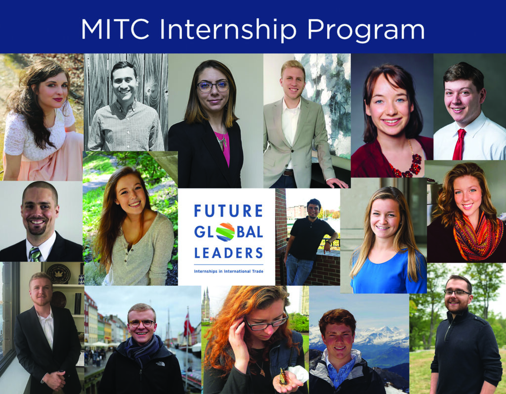 mitc internship program future global leaders graphic of many photos of men and women